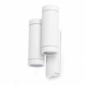 Applique extérieure avec double tube blanc
