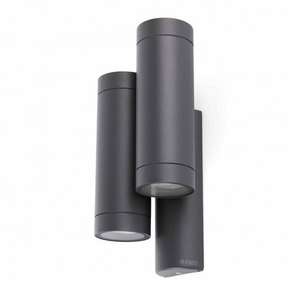 Applique de jardin grise en fonte d\'aluminium - Luminaire design