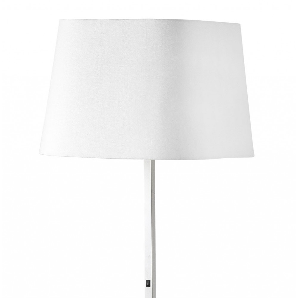 lampadaire blanc au design pur un luminaire faro sur lampe avenue. Black Bedroom Furniture Sets. Home Design Ideas