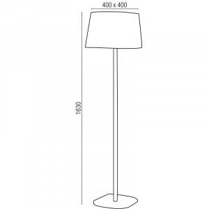 Lampadaire noir moderne au design épuré