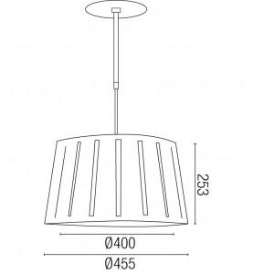 Suspension noire métal dimensions