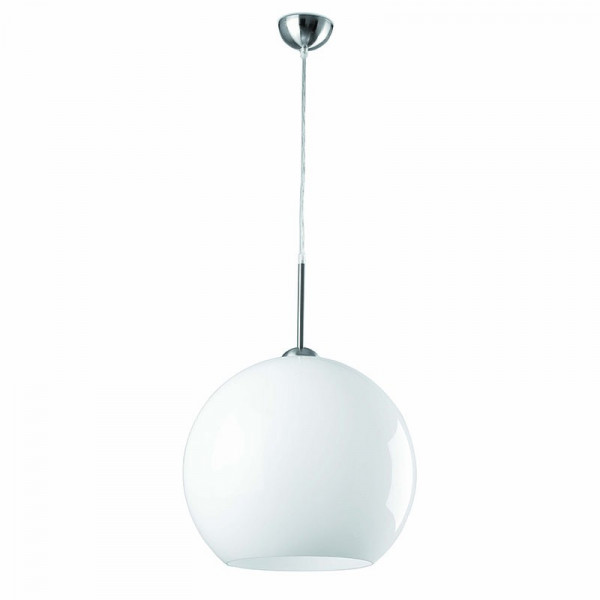 Suspension boule blanche design ann es 70 pop art 2 for Suspension blanche design