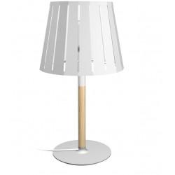 Lampe chevet bois et métal