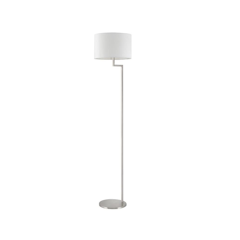 lampadaire de salon nickel mat et abat jour blanc lampe avenue. Black Bedroom Furniture Sets. Home Design Ideas
