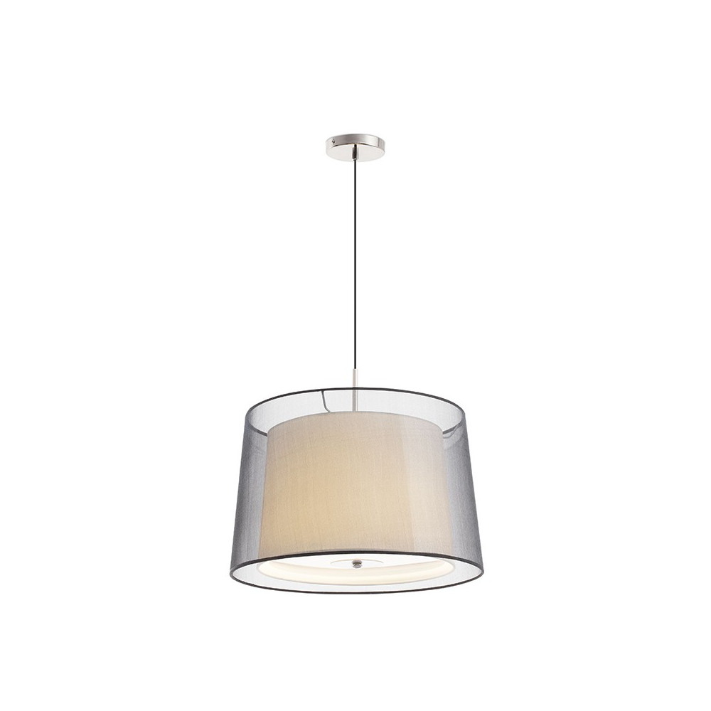 Suspension chic et design blanche avec clairage filtr faro for Eclairage suspension design