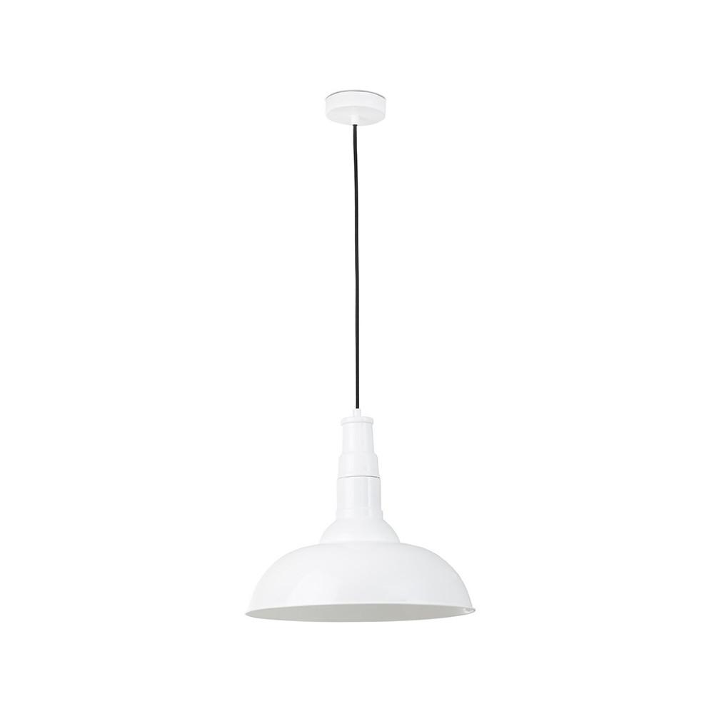 suspension luminaire design en acier blanc avec fil noir r glable. Black Bedroom Furniture Sets. Home Design Ideas