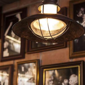 Luminaire rouille vintage