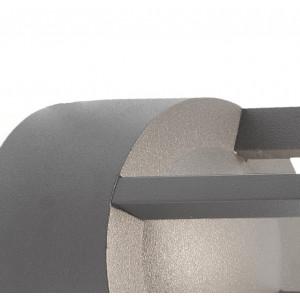 Applique extérieur grise cylindre alu