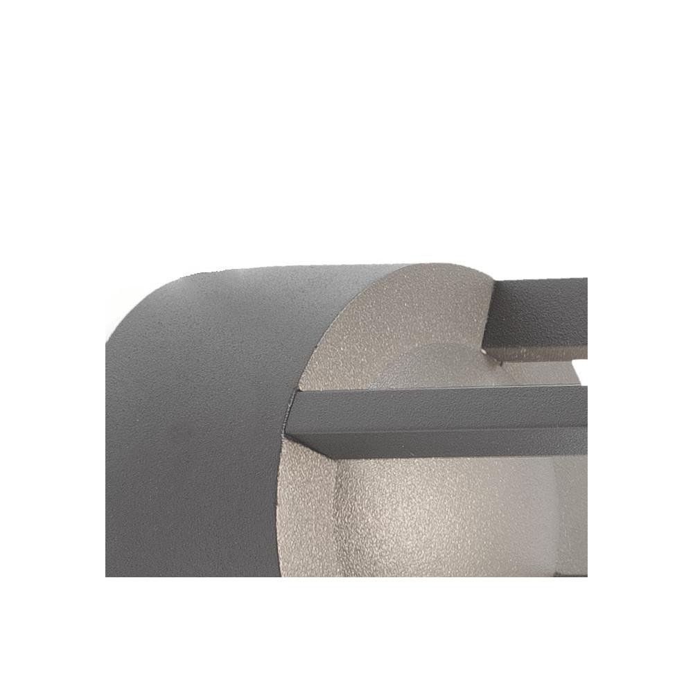 applique murale grise fonc e en fonte d aluminium pour l ext rieur led. Black Bedroom Furniture Sets. Home Design Ideas