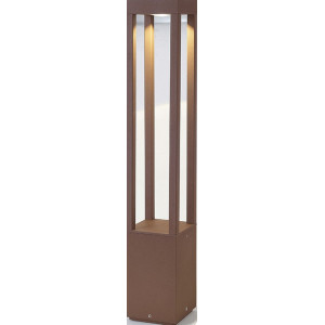 Borne design marron rouille