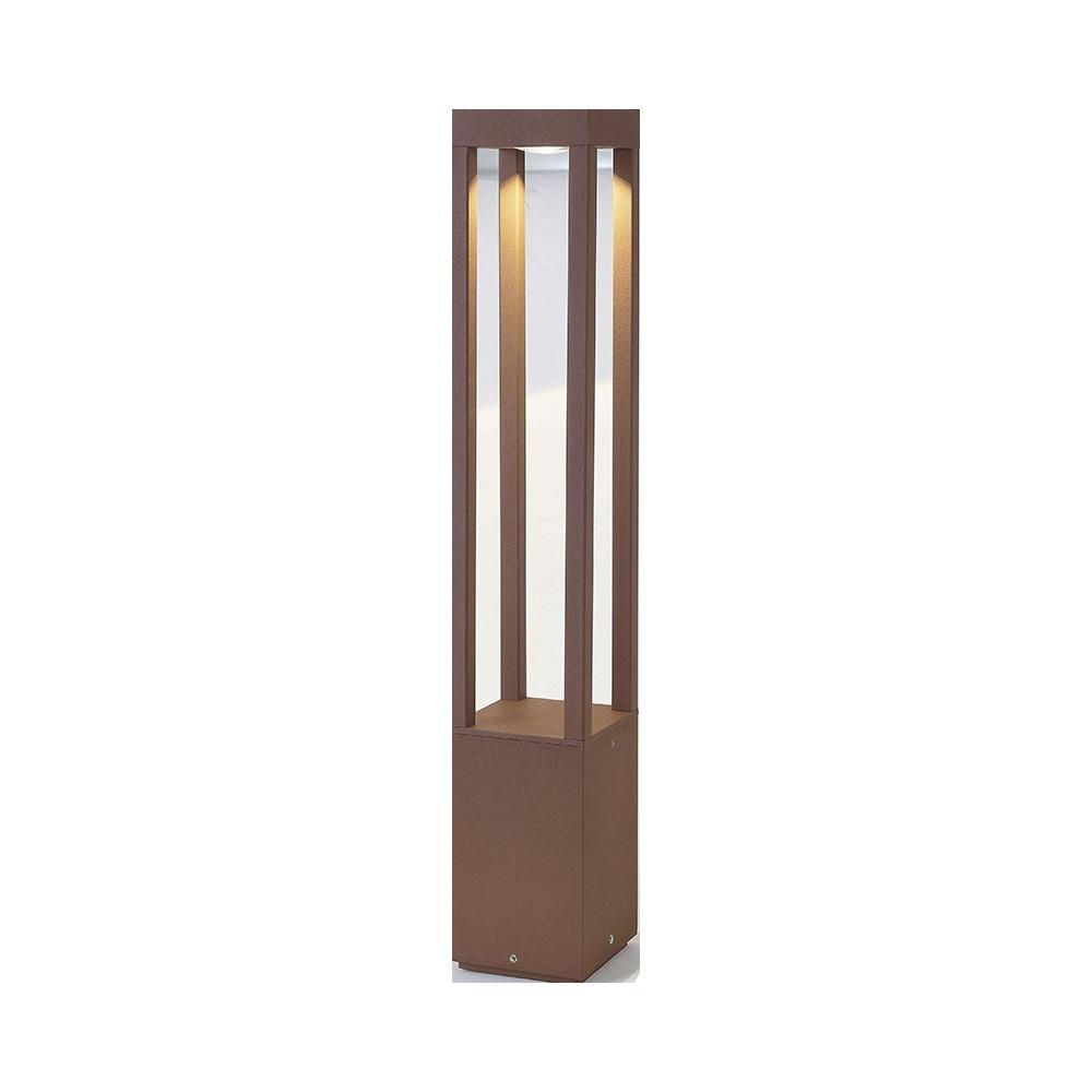 borne led design pour l ext rieur en fonte d aluminium couleur rouille faro. Black Bedroom Furniture Sets. Home Design Ideas
