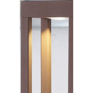 Borne LED extérieur rouille