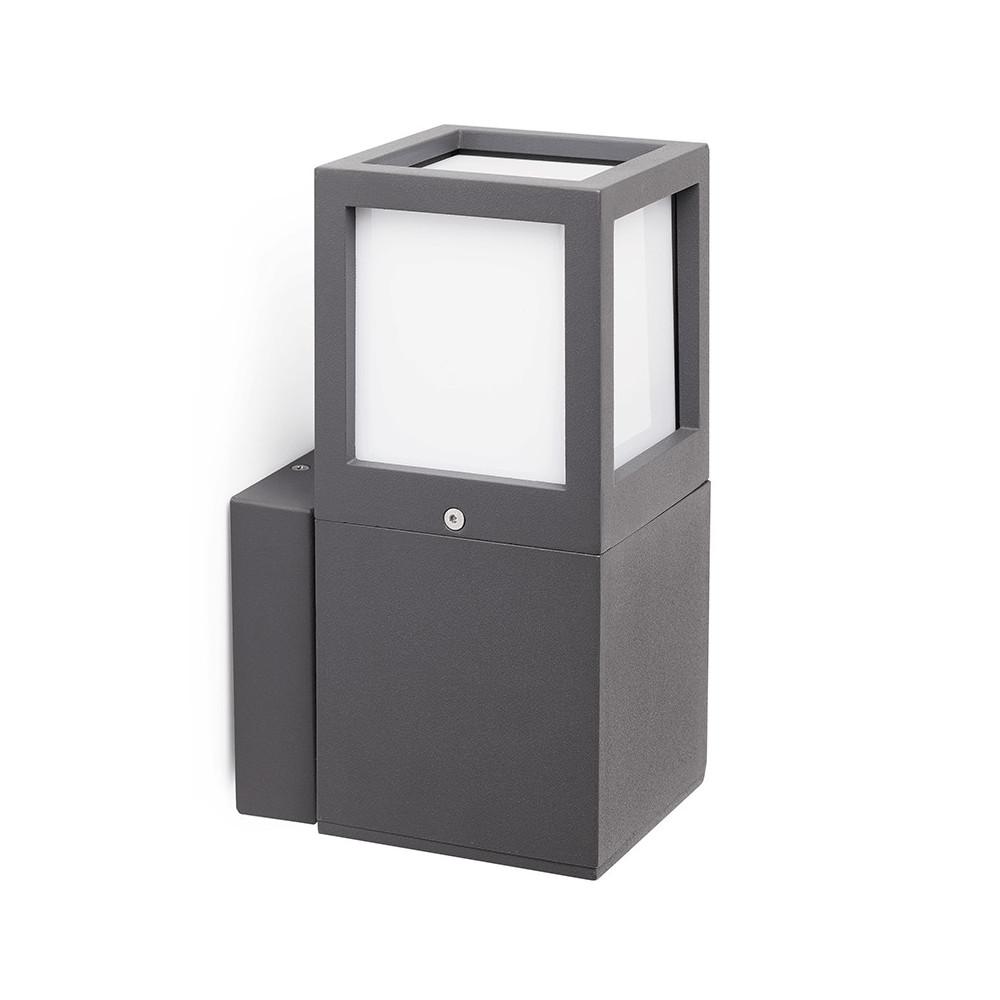 applique grise pour ext rieur en alu luminaire design. Black Bedroom Furniture Sets. Home Design Ideas