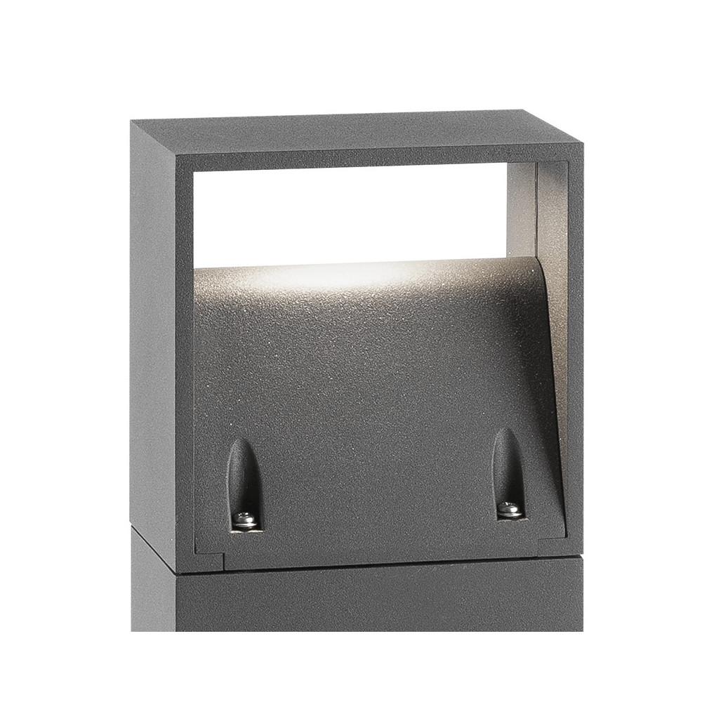 Achat borne design grise en alu pour l ext rieur for Lampe exterieur led design