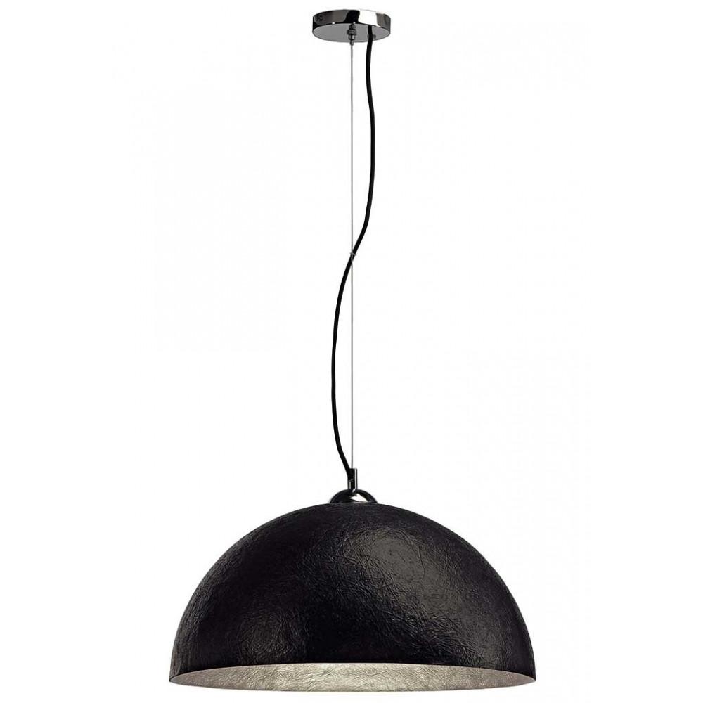 Suspension cuisine moderne noire et argentée en vente sur lampe avenue