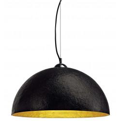 Suspension moderne noire intérieur doré
