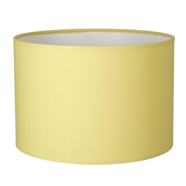 abat jour cylindre rond en coton jaune citron. Black Bedroom Furniture Sets. Home Design Ideas