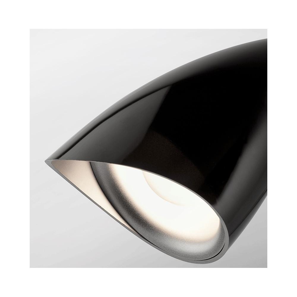 Lampe de bureau noire design luminaire bureau faro - Lampe de bureau noire ...