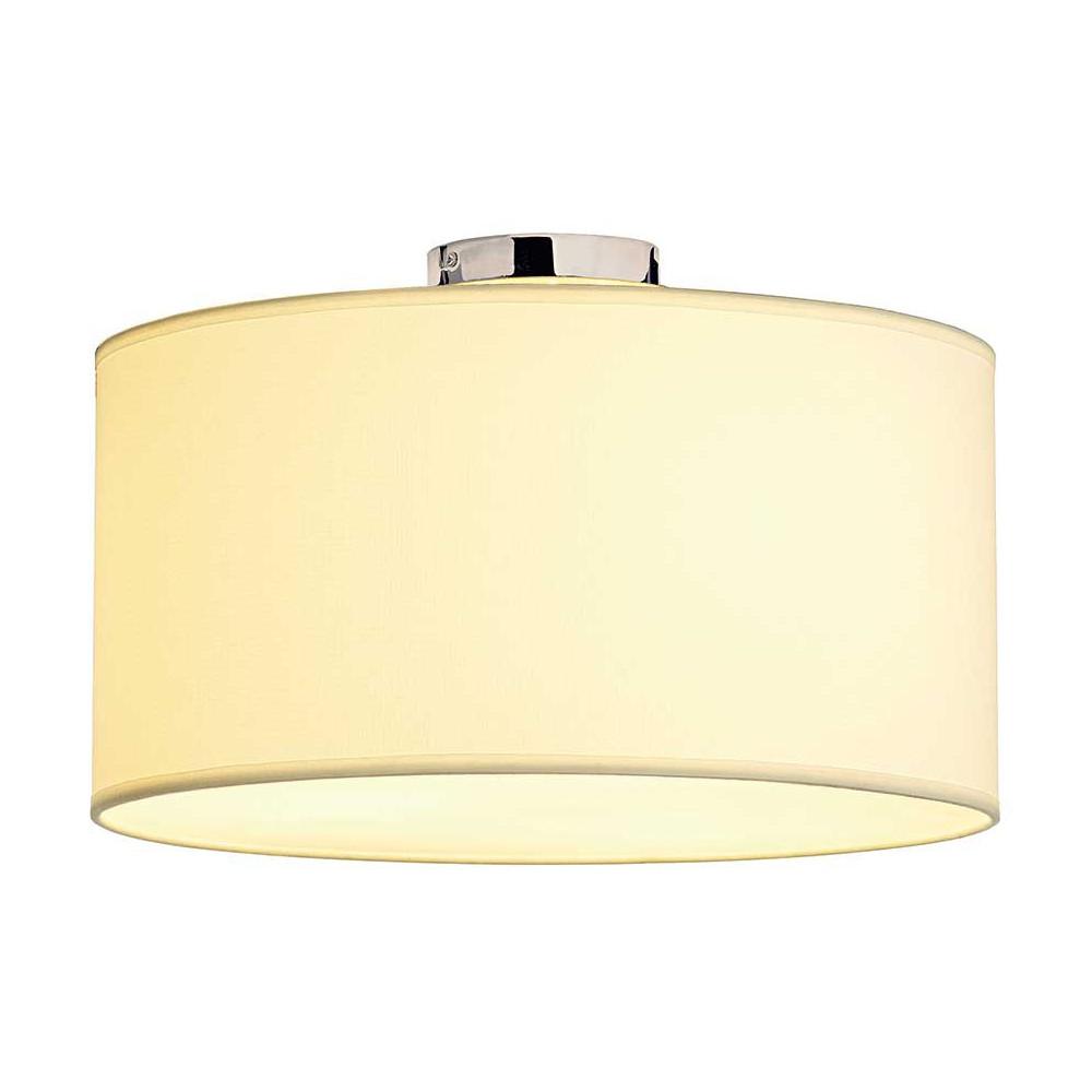 plafonnier tissu blanc avec diffuseur en verre acrylique lampe avenue. Black Bedroom Furniture Sets. Home Design Ideas