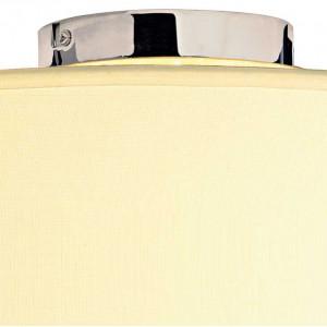 Plafonnier tissu blanc avec diffuseur en verre