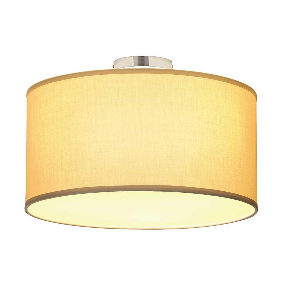 grand plafonnier tissu beige avec un diffuseur en verre lampe avenue. Black Bedroom Furniture Sets. Home Design Ideas