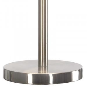 Lampe pied métal brossé