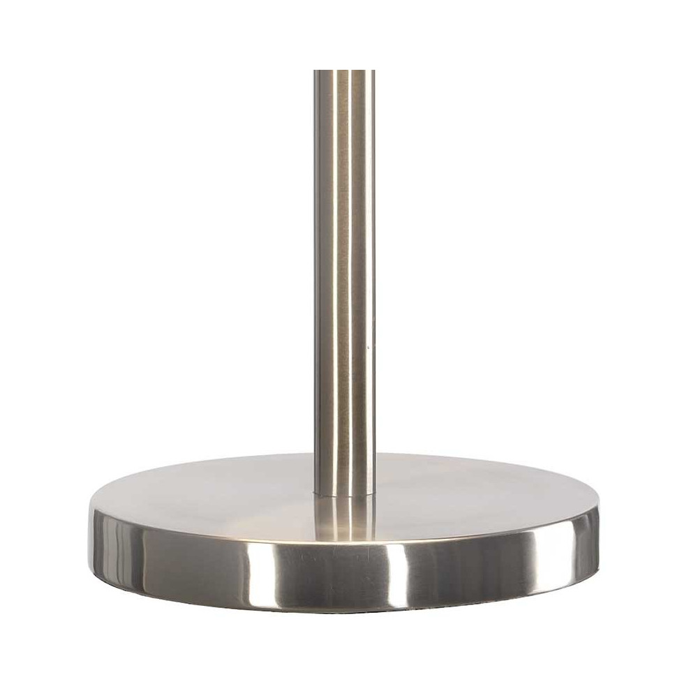 lampe poser m tal bross et abat jour blanc lampe avenue. Black Bedroom Furniture Sets. Home Design Ideas