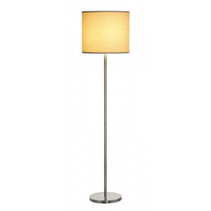 Lampadaire métal brossé