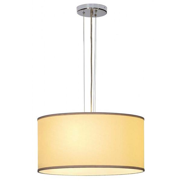 Grande suspension abat jour beige hauteur r glkable et for Luminaire exterieur puissant