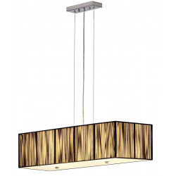 Grande suspension noire rectangle