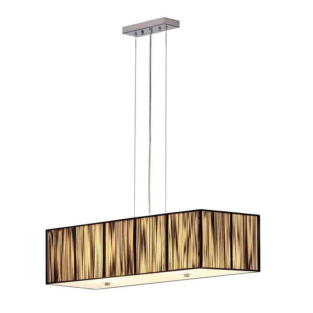 grande suspension noire rectangle avec un diffuseur en verre. Black Bedroom Furniture Sets. Home Design Ideas