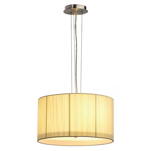 Suspension cylindrique beige avec diffuseur