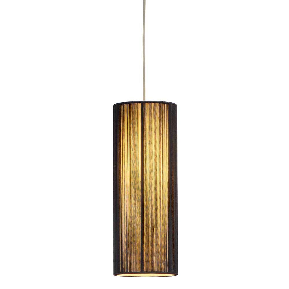 suspension abat jour pliss noir hauteur r glable. Black Bedroom Furniture Sets. Home Design Ideas