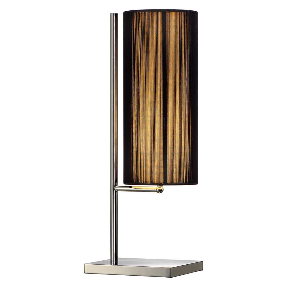 Lampe de table abat jour pliss noir en vente sur lampe for Lampe de table rona