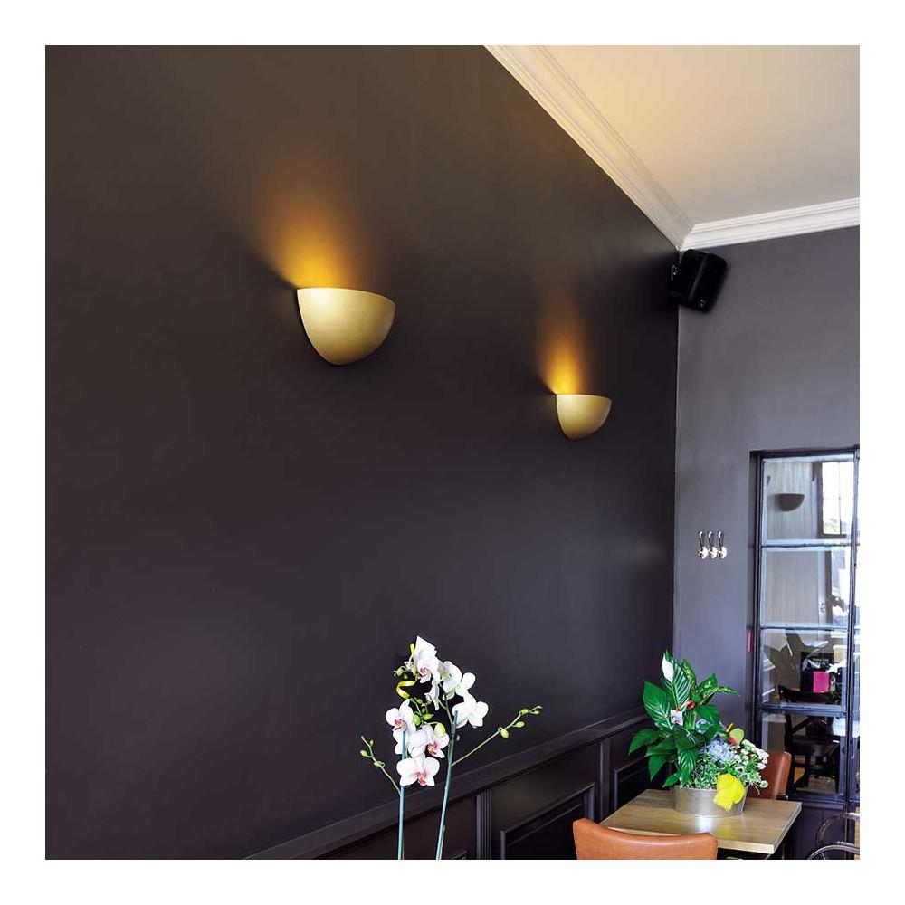 Applique pl tre demi sph re peindre en vente sur lampe for Peindre sur platre