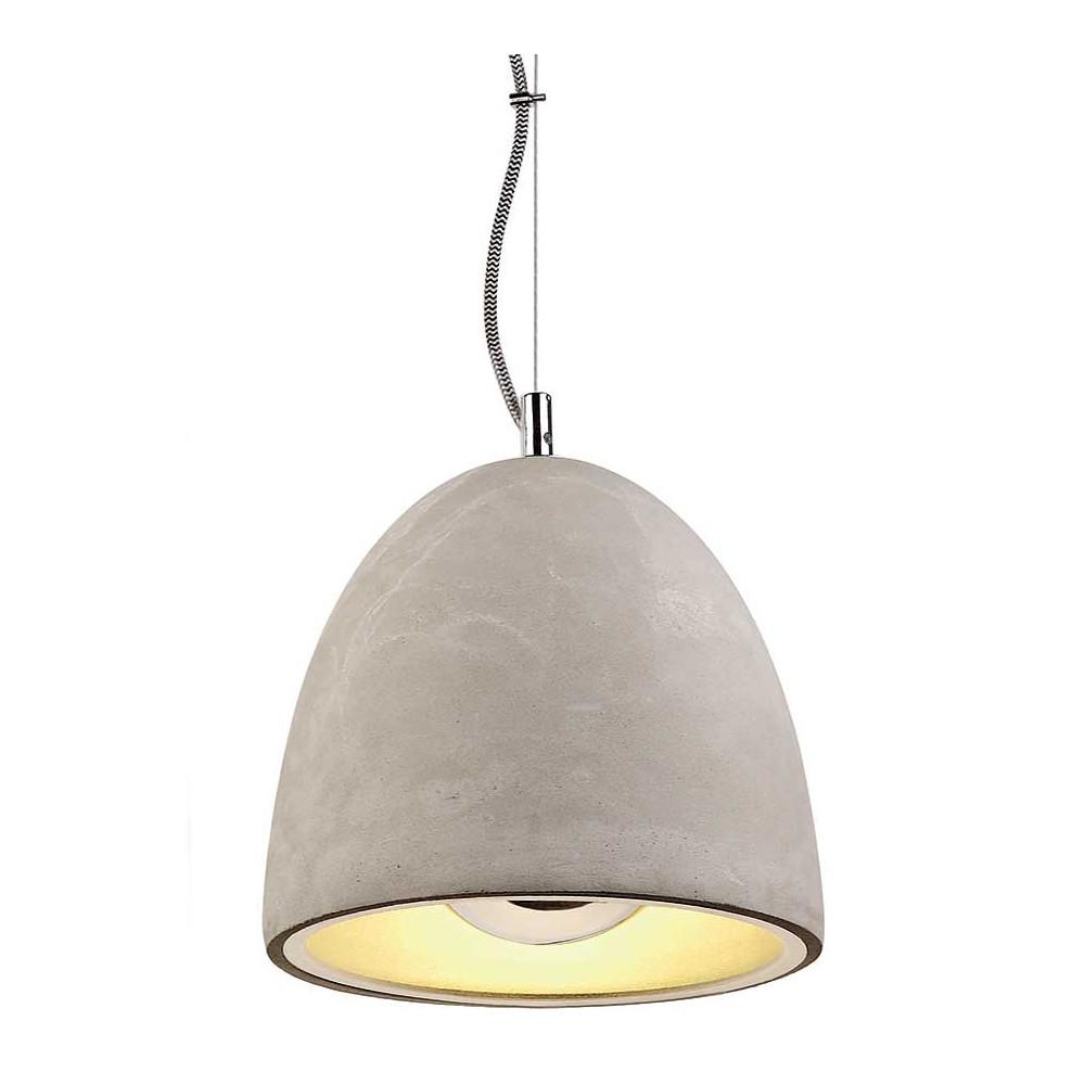Belle suspension en b ton id ale au dessus d 39 une table for Lampe au dessus d une table