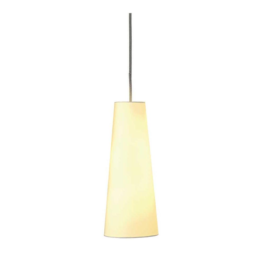 Suspension conique blanche l gante lampe avenue for Suspension tissu