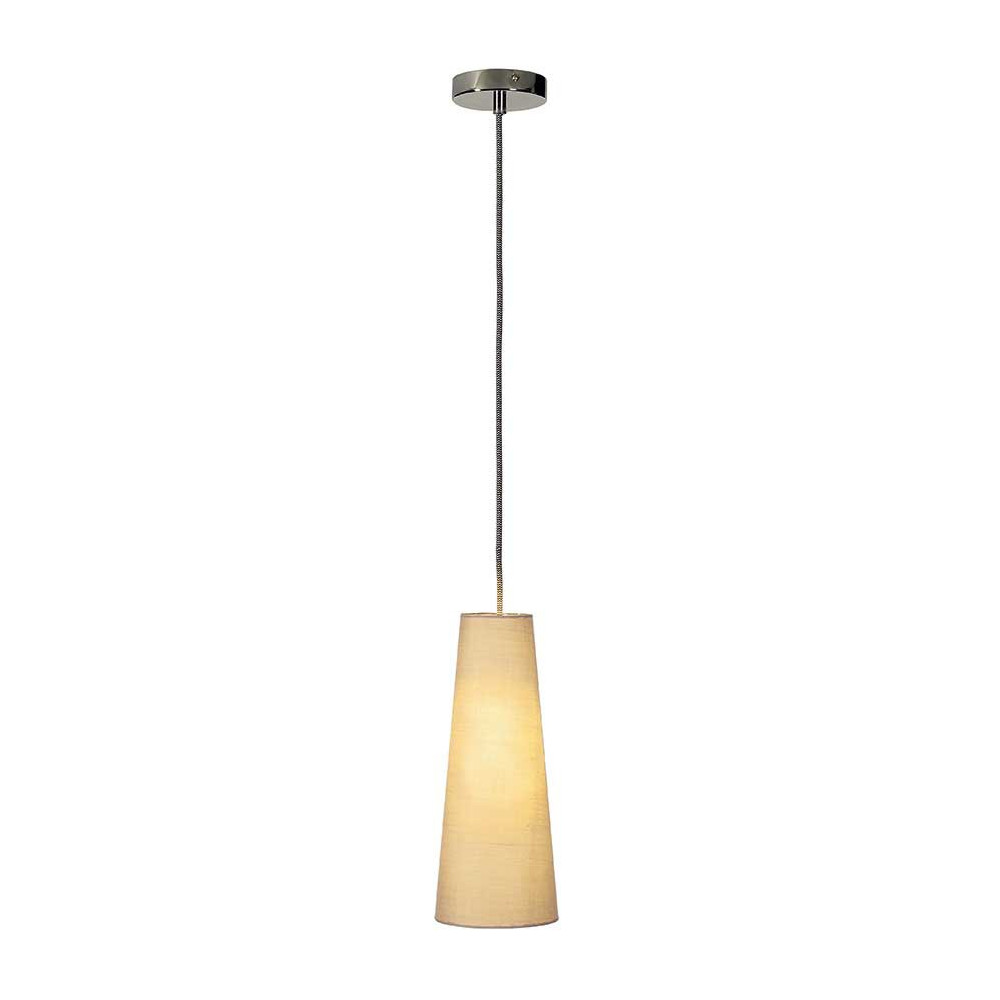Suspension conique grise un luminaire lampe avenue for Suspension grise