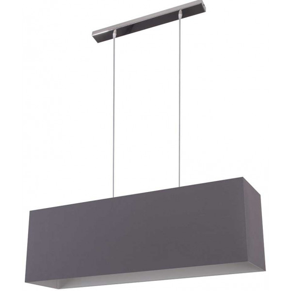 Suspension abat-jour double gris ardoise