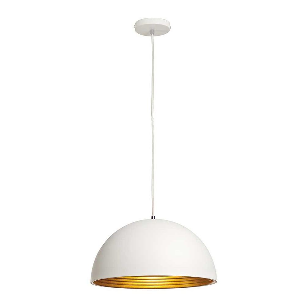 cette grande suspension alu blanc et or existe en 2 dimensions. Black Bedroom Furniture Sets. Home Design Ideas