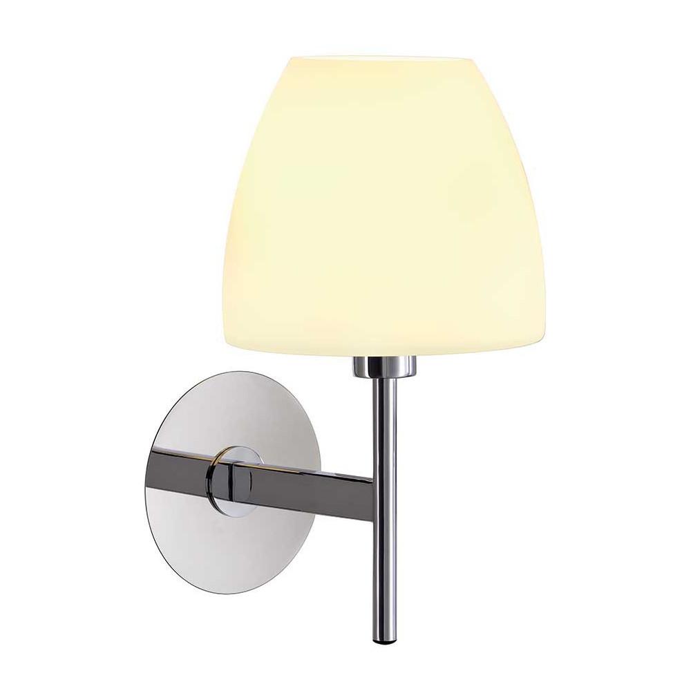 applique en verre et m tal chrom un luminaire facile. Black Bedroom Furniture Sets. Home Design Ideas