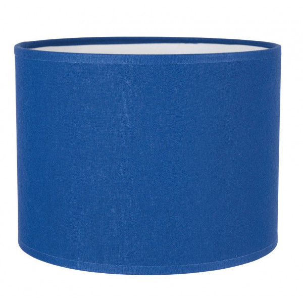 Abat-jour cylindre bleu
