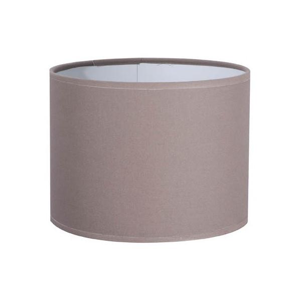 Abat-jour cylindre couleur noix