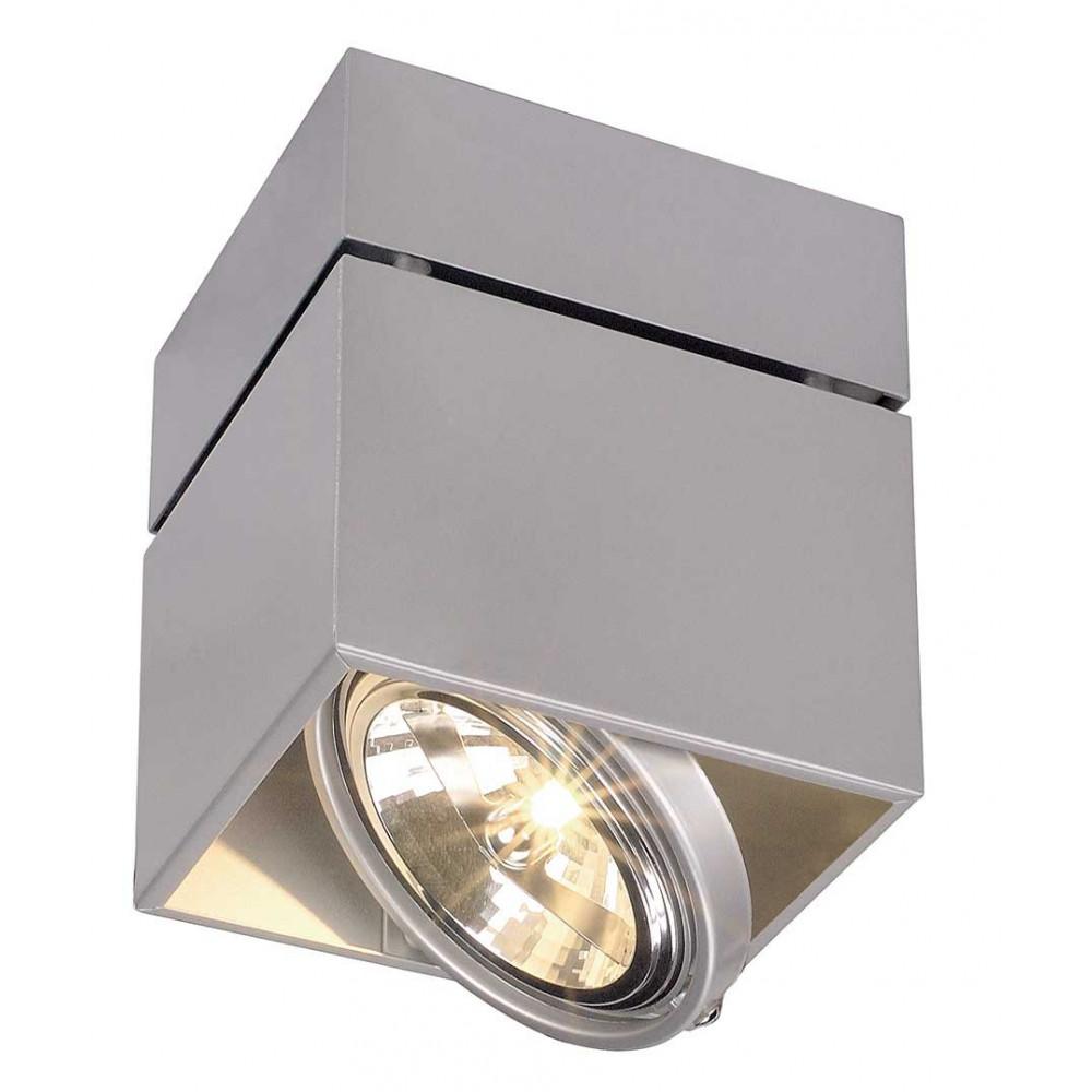 plafonnier gris design carr orientable eclairage boutique. Black Bedroom Furniture Sets. Home Design Ideas