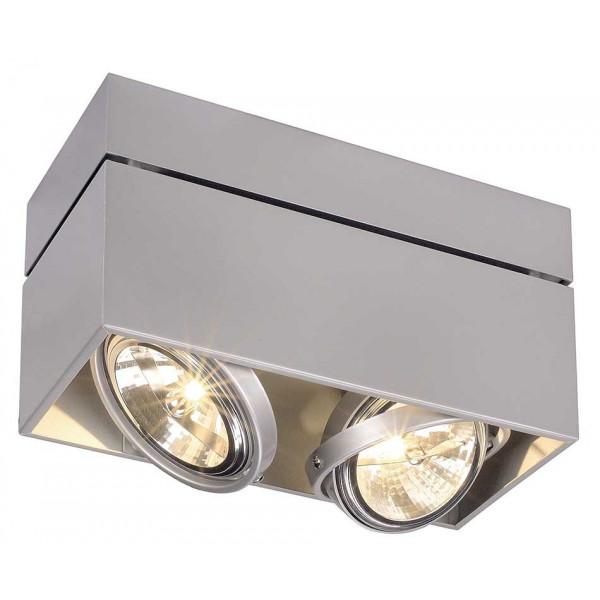 Plafonnier double gris pour vitrine