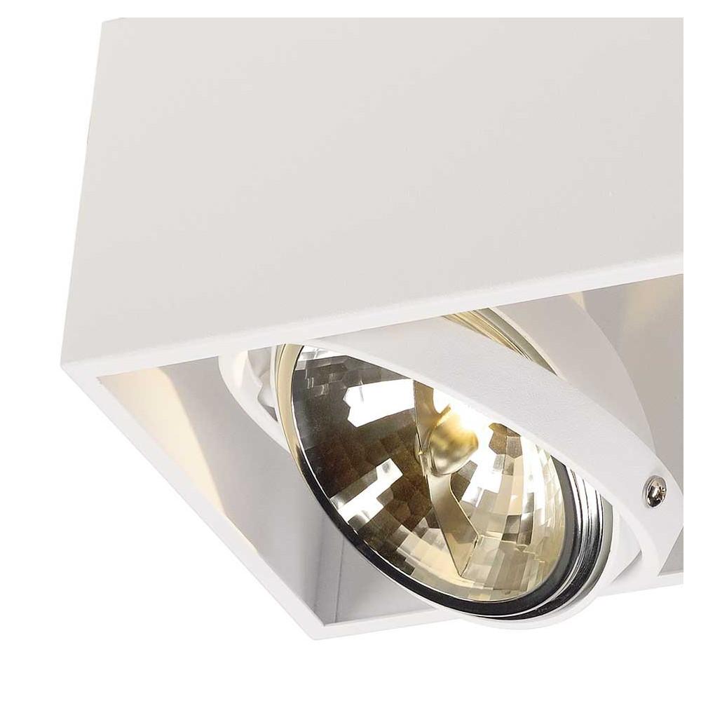 plafonnier double design blanc eclairage boutique et vitrine. Black Bedroom Furniture Sets. Home Design Ideas