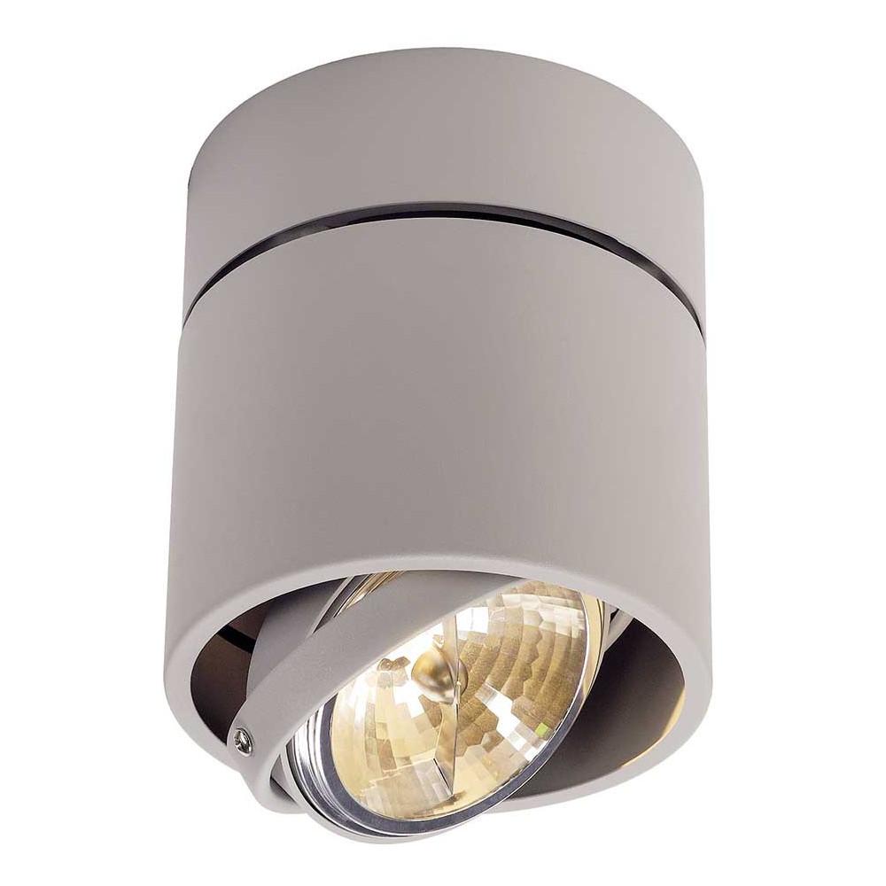 Plafonnier gris clair design orientable luminaire moderne for Spot luminaire exterieur