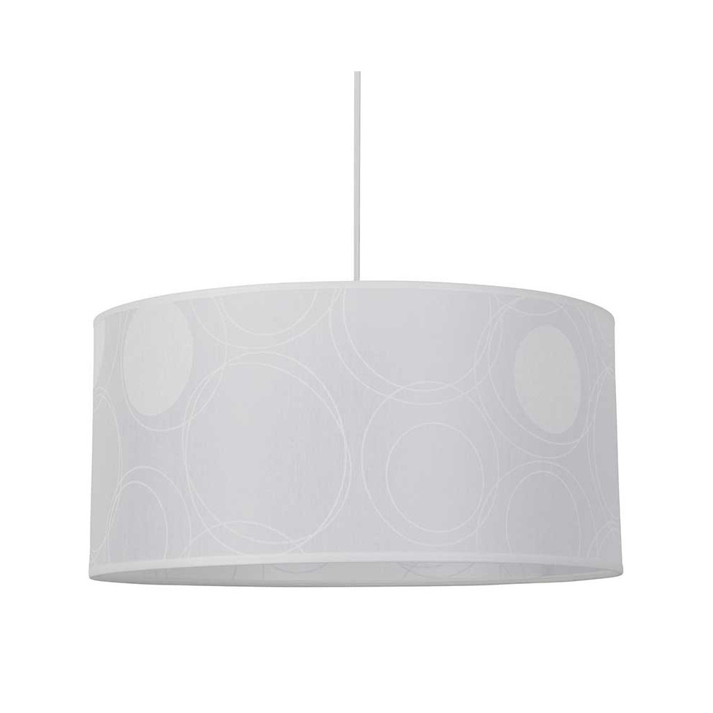 Suspension blanche cylindre motifs transparents sur for Suspension blanche design