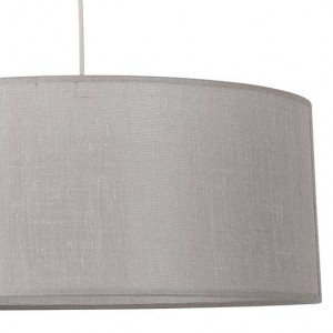 Suspension cylindre taupe lin