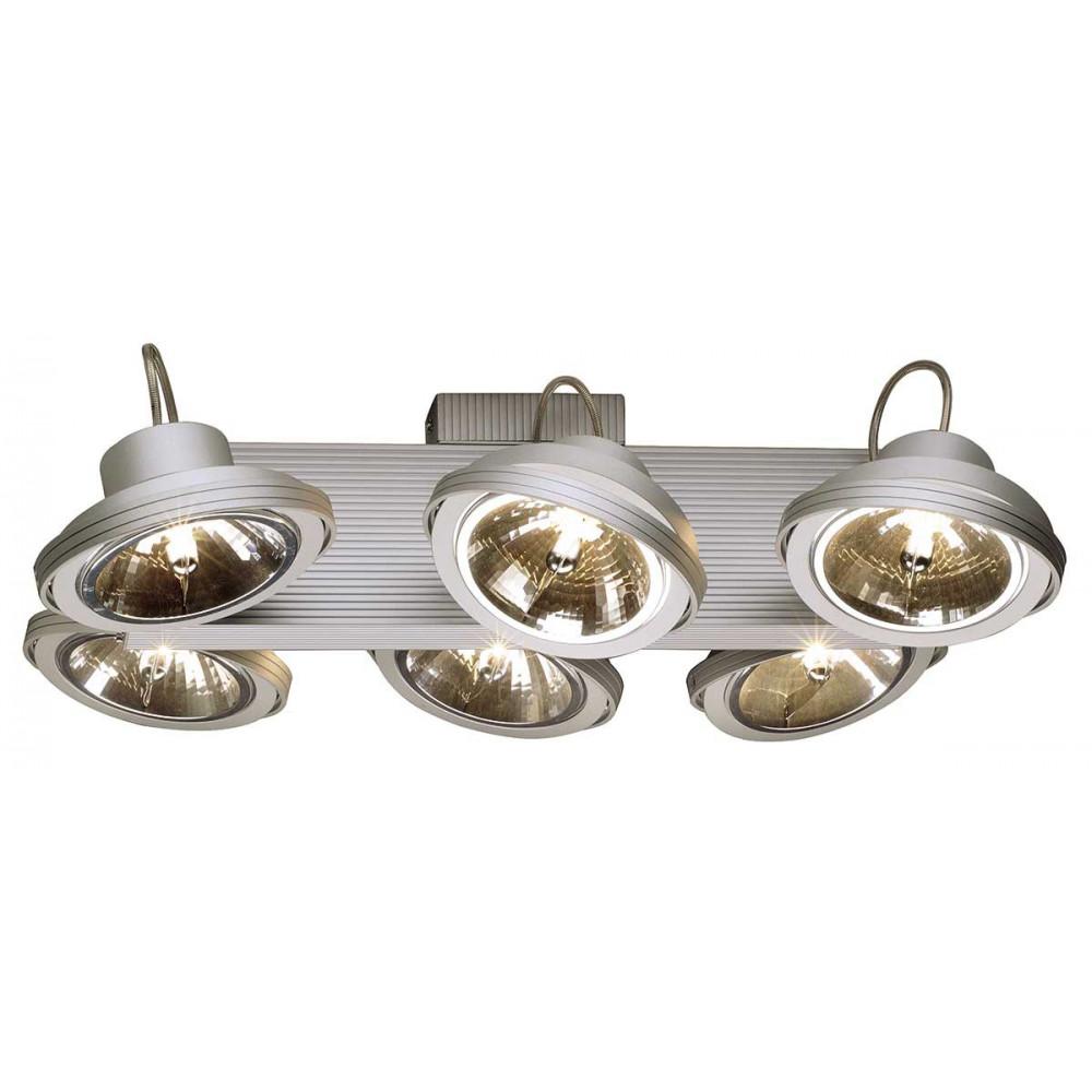 Eclairage vitrine plafonnier moderne 6 spots orientables for Eclairage exterieur spot